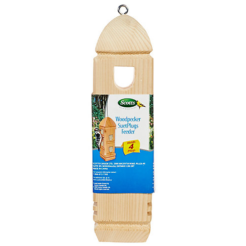 WOODPECKER SUET PLUG FEEDER 800G