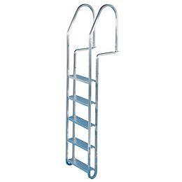Dock Ladder,5 Step,c/w Quick Release,Aluminum