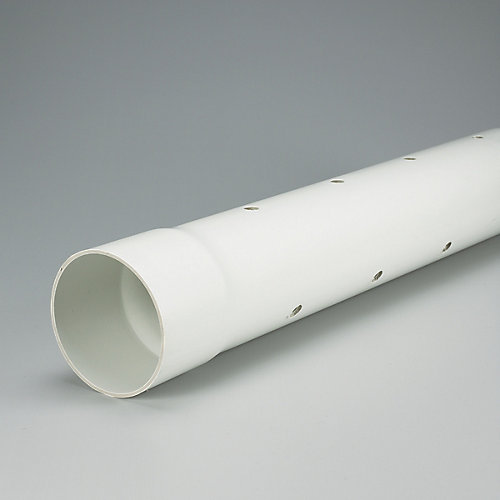 PVC 4 inches x 10 ft PERFORATED SEWER PIPE - Ecolotube NS Spec.