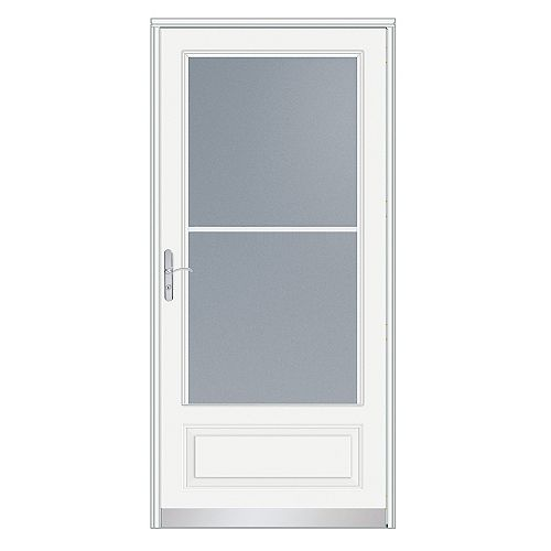 34-inch W 400 Series Venting White Screen Door with Nickel Hardware