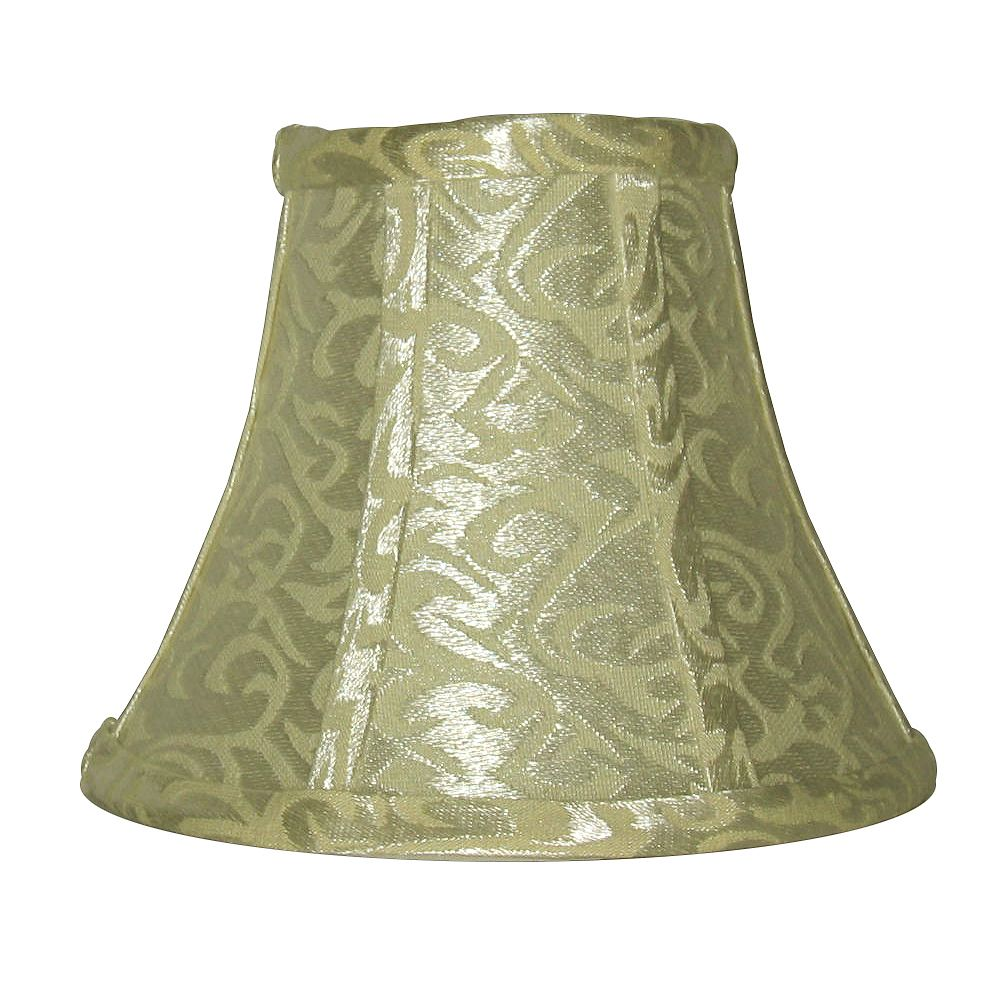 Shawson Lighting 5 Inch Platium / Ivory Bell Lamp Shade