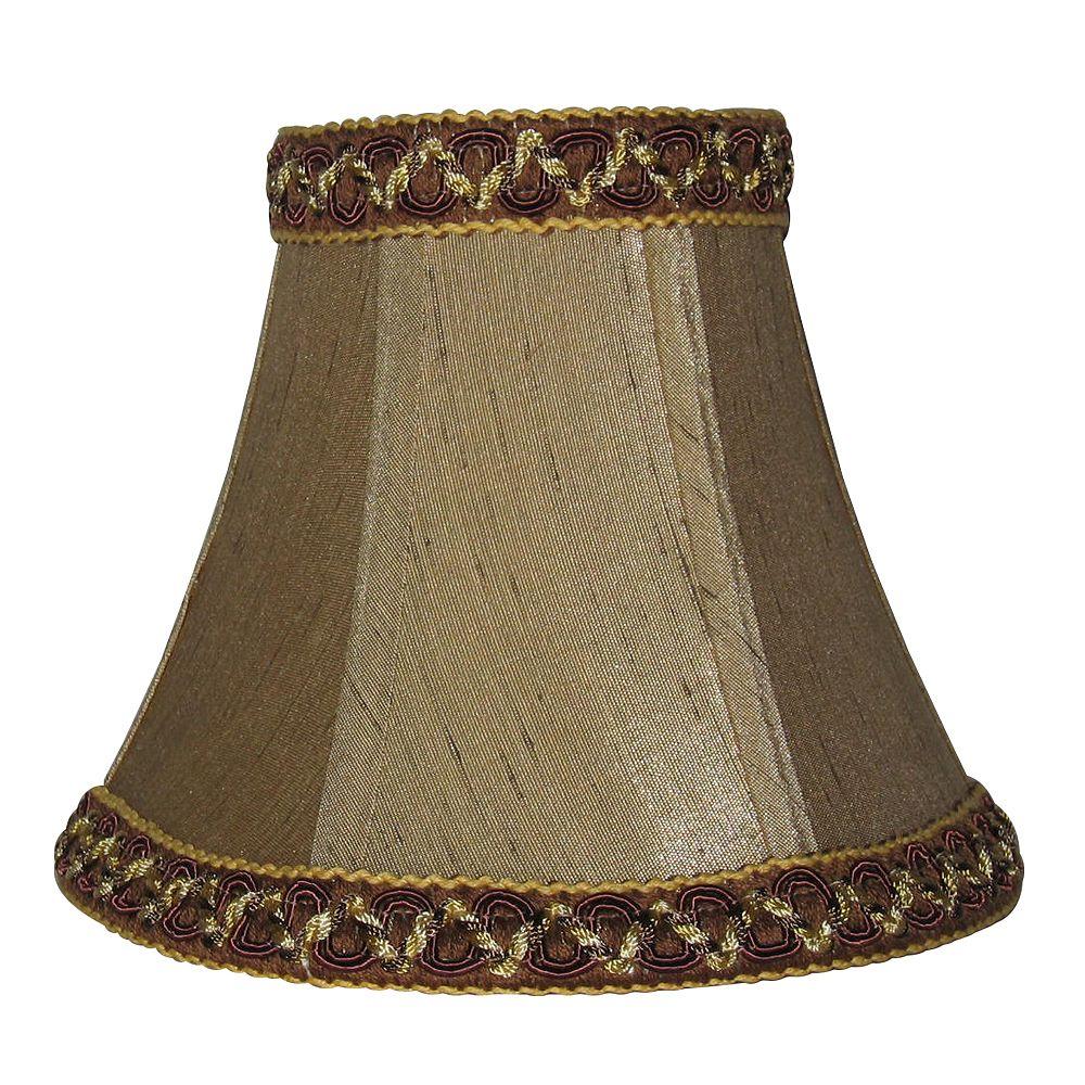 Shawson Lighting 5 Inch Mocca Shantung Lamp Shade