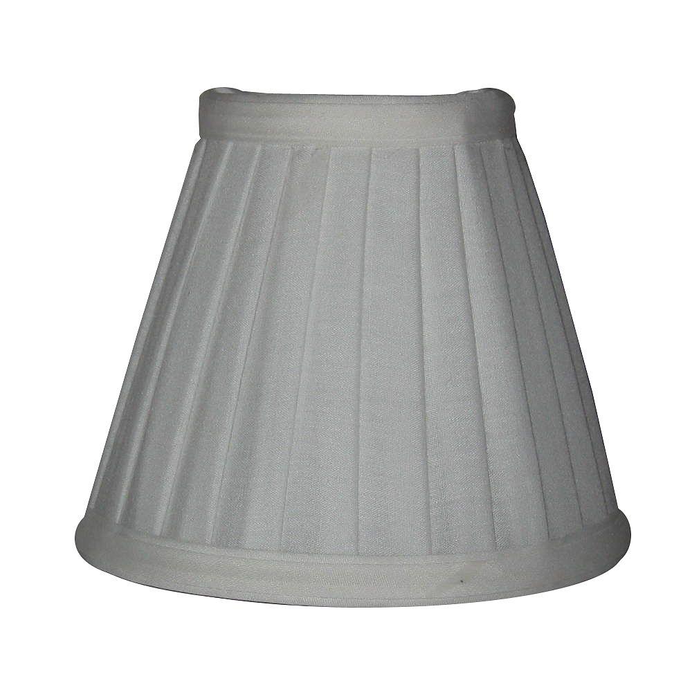 Shawson Lighting 5.5 Inch Off-White Side Pleat Lamp Shade