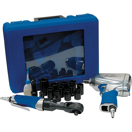 19-Piece Impact and Ratchet kit with Accessories