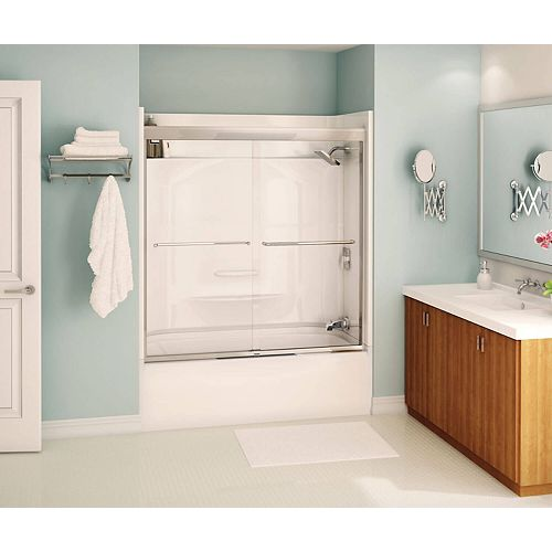 Tonik 2-Panel Frameless Tub Shower Door 59 1/2-inches