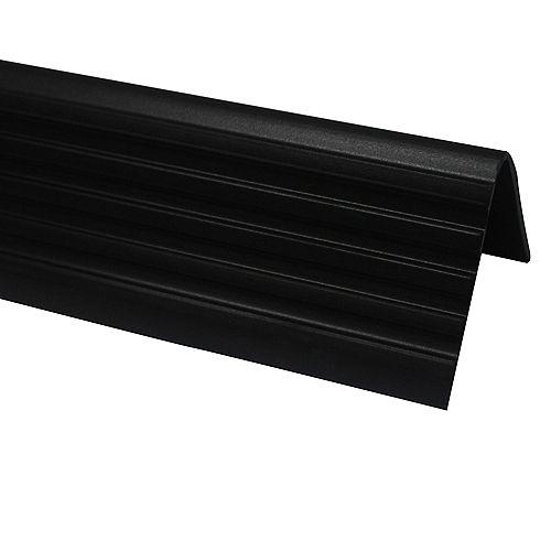 Vinyl Stair Nosing, Black - 1-7/8 Inch