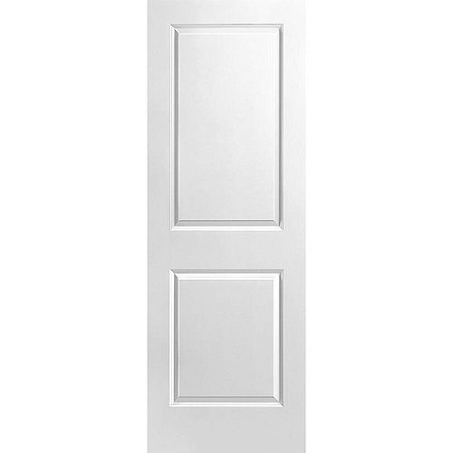 Porte unie lisse 2 panneaux 28 po x 80 po