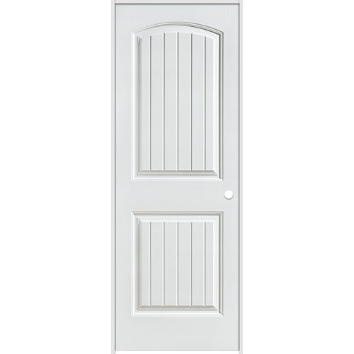 Masonite 30-inch x 80-inch Lefthand Primed 2-Panel Plank Smooth Prehung Interior Door
