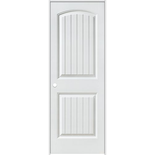 32-inch x 80-inch Righthand Primed 2-Panel Plank Smooth Prehung Interior Door