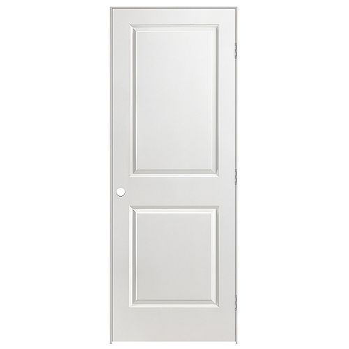 Masonite 24-inch x 80-inch Lefthand 2-Panel Smooth Prehung Interior Door