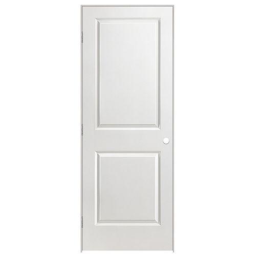 Masonite 32-inch x 80-inch Righthand 2-Panel Smooth Prehung Interior Door