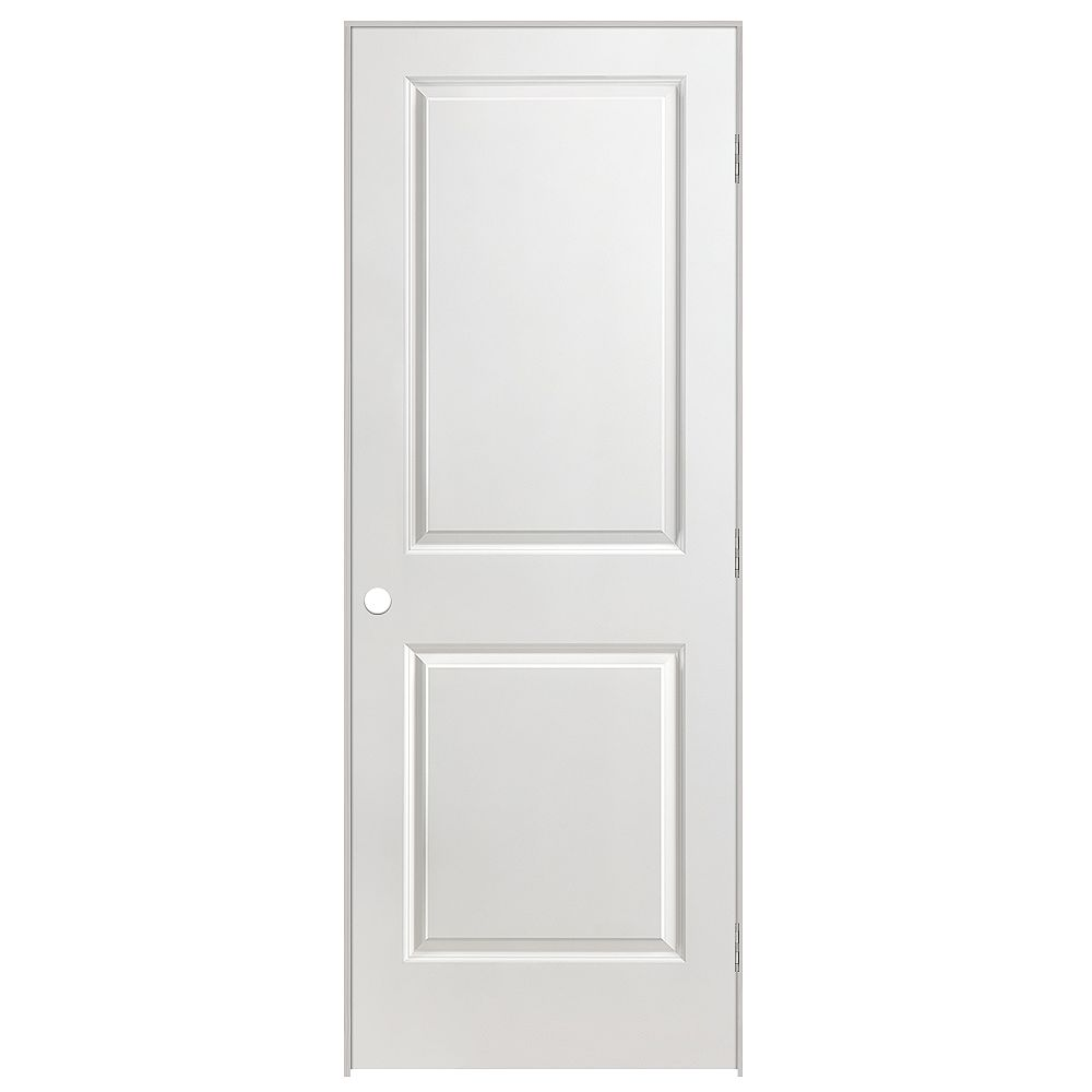 Masonite 32-inch x 80-inch Lefthand 2-Panel Smooth Prehung Interior Door