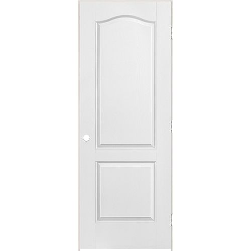 28-inch x 80-inch Righthand 2-Panel Arch Top Textured Prehung Interior Door