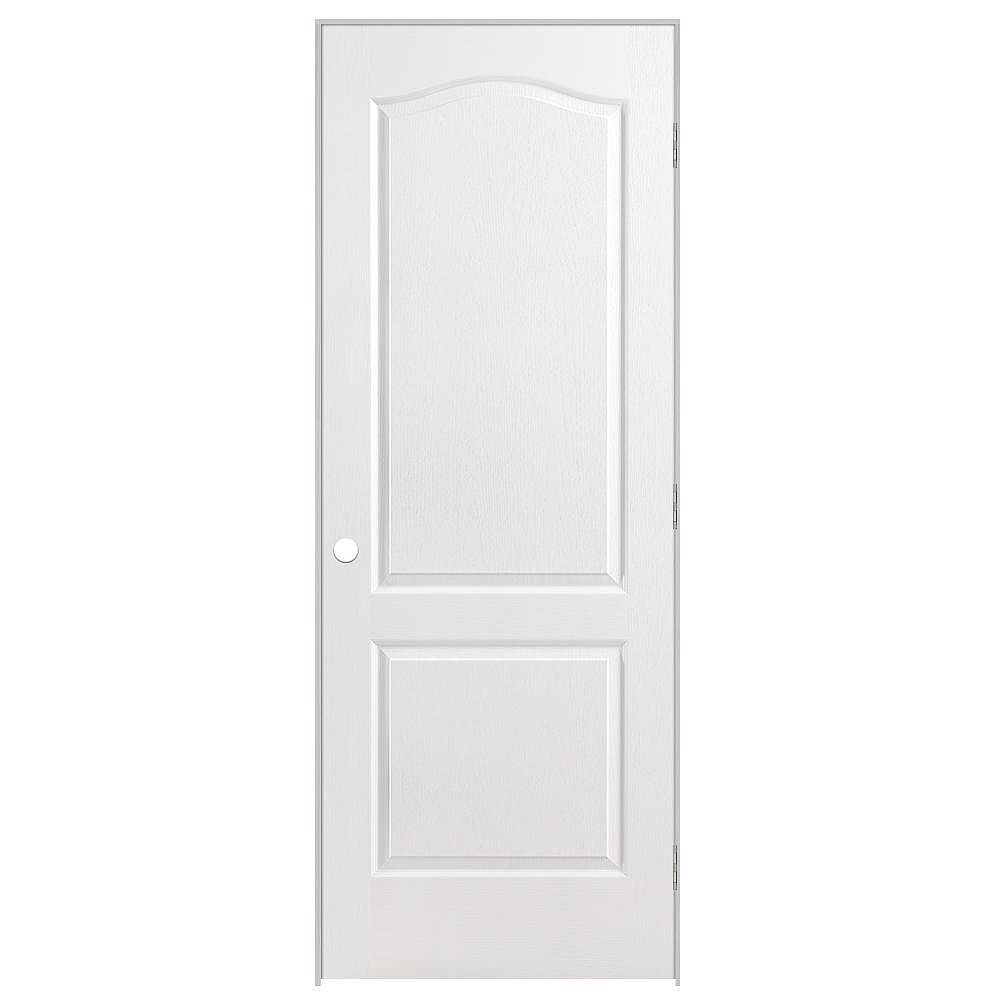 Masonite 30-inch x 80-inch Lefthand 2-Panel Arch Top Textured Prehung Interior Door
