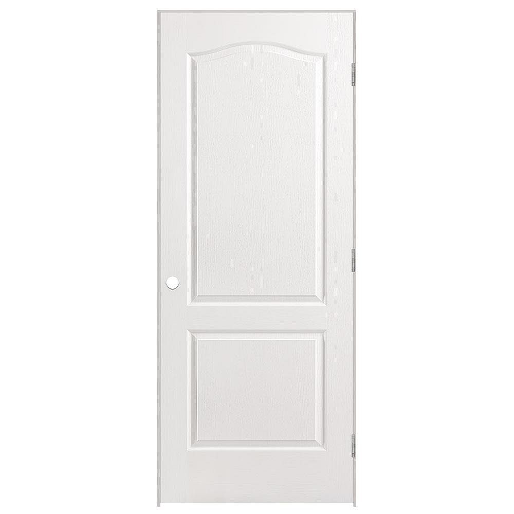 Masonite 32-inch x 80-inch Lefthand 2-Panel Arch Top Textured Prehung Interior Door
