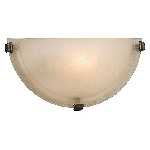 Applique, bronze, une ampoule, diffuseur en verre givré