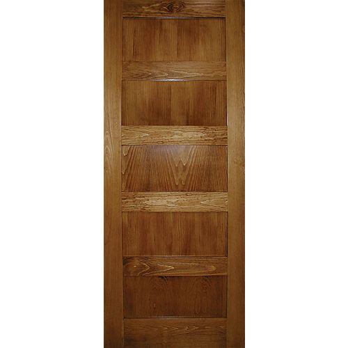 30-inch x 80-inch A Zen Designed 5-Panel Shaker Door in Clear Pine