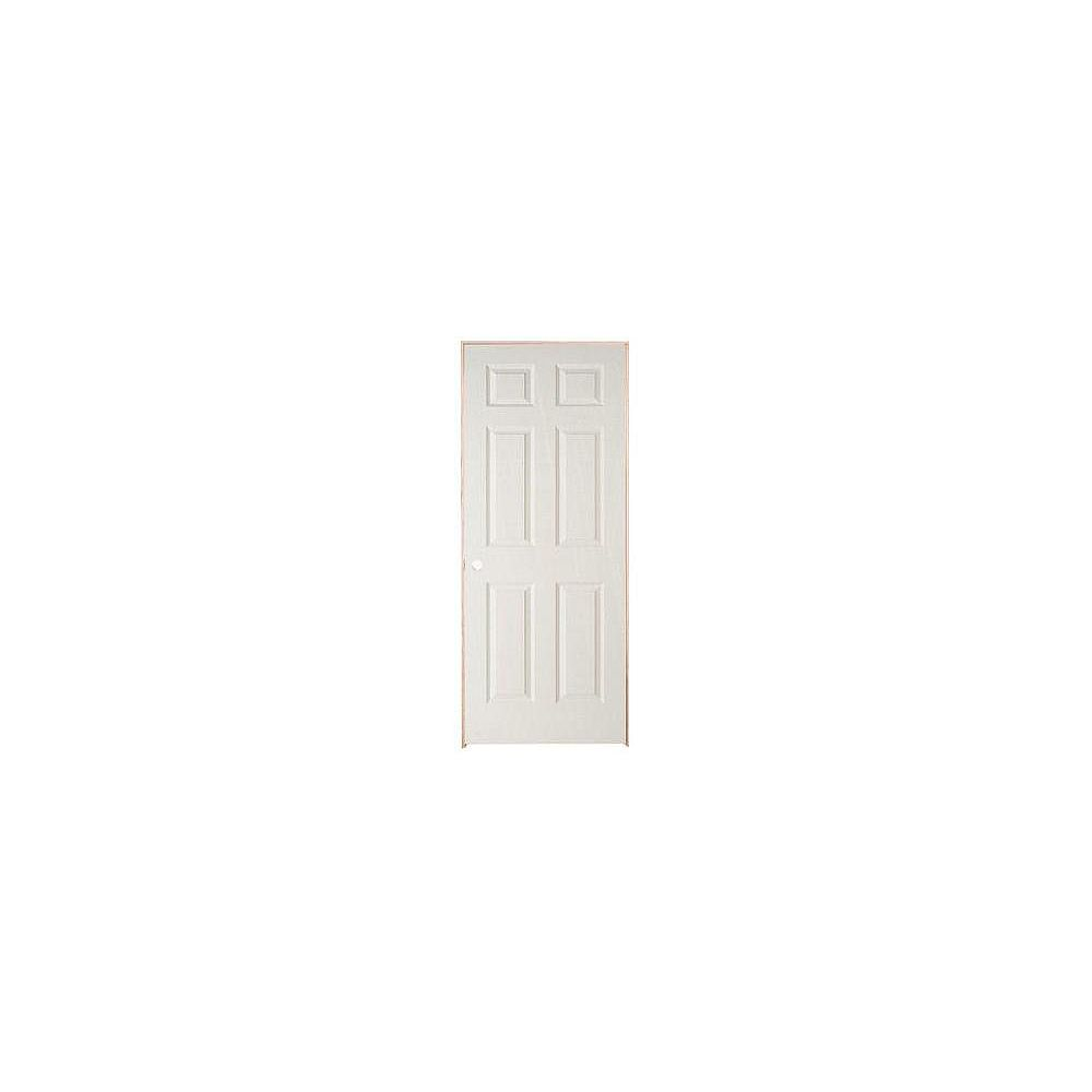 Masonite 24-inch x 78-inch Righthand 6-Panel Textured Prehung Interior Door