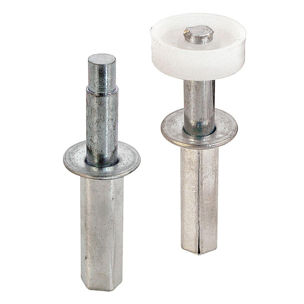 Prime-Line Ensemble de pivot supérieur et guide pour porte pliante, boîtier en acier de 7/16 po (paquet de 2)