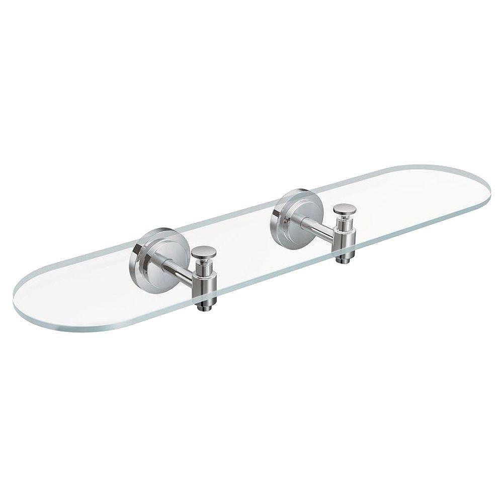 MOEN Iso Chrome Glass Shelf