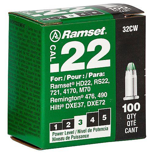 22 Cal. Single Shot Green Load (100-Pack)