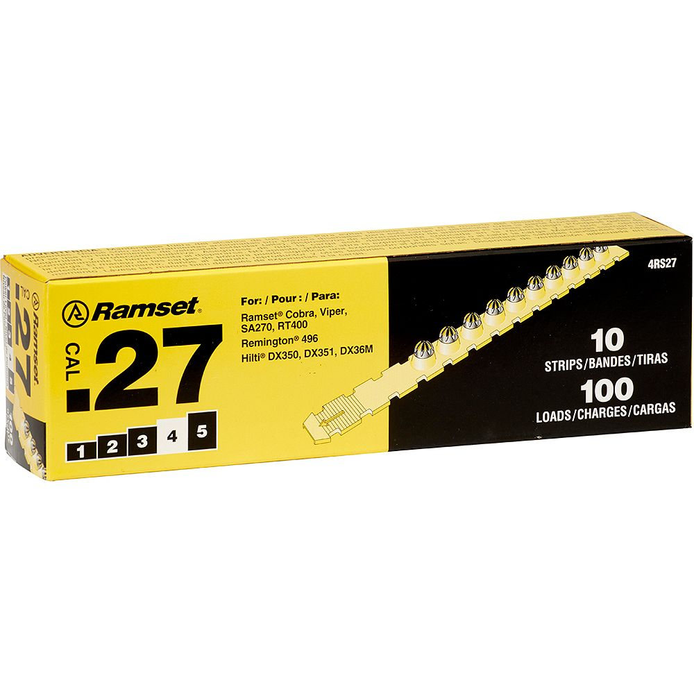 Ramset 27 Cal. Strip Shot Yellow Load (100-Pack)