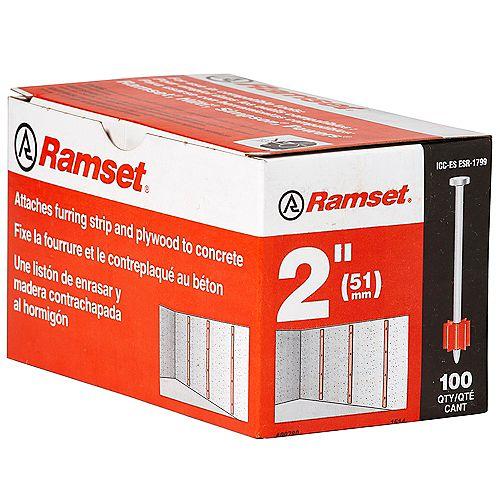 "Ramset 2"""" Drive Pin (100-Pack)"