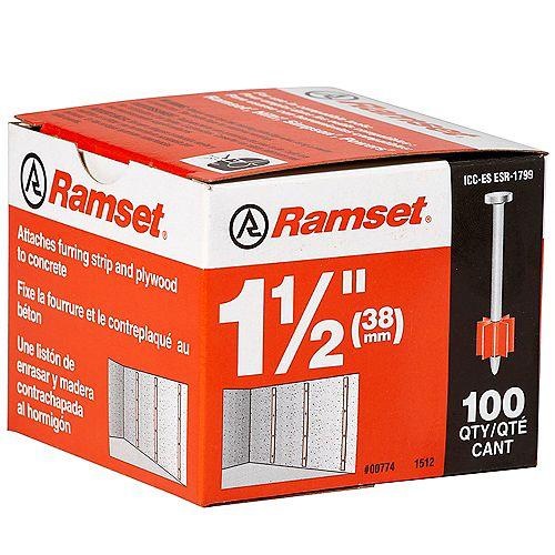 "Ramset 1 1/2"""" Drive Pin (100-Pack)"
