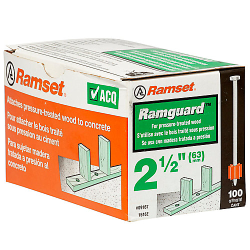 Goupilles RamguardmcDe 2 1/2 Po (Acq), Paquet De 100