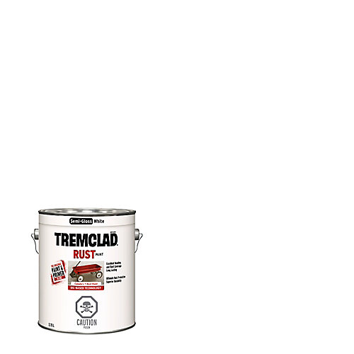 Oil-Based Rust Paint In Gloss White, 3.78 L