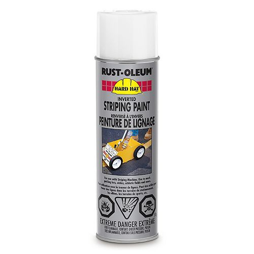 Rust-Oleum Professional Inverted Striping Paint In White, 510 G Aerosol
