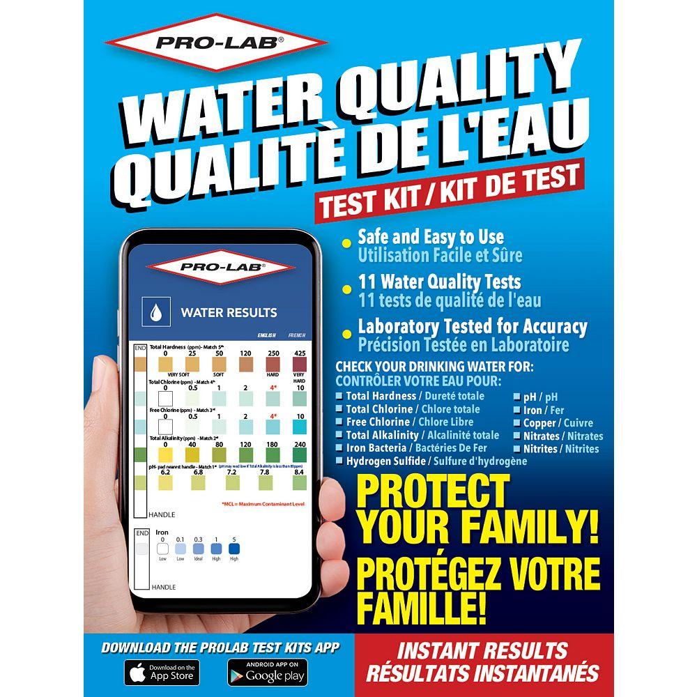 PRO-LAB Kit de test de la qualité de l'eau