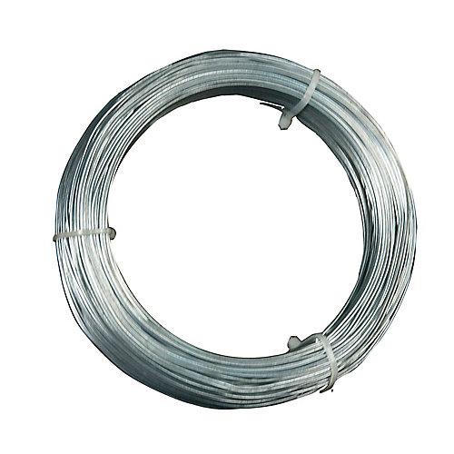 12 Gauge Hanger Wire, for Suspending Drop Ceiling Tees from Lag Screws - 100 Feet
