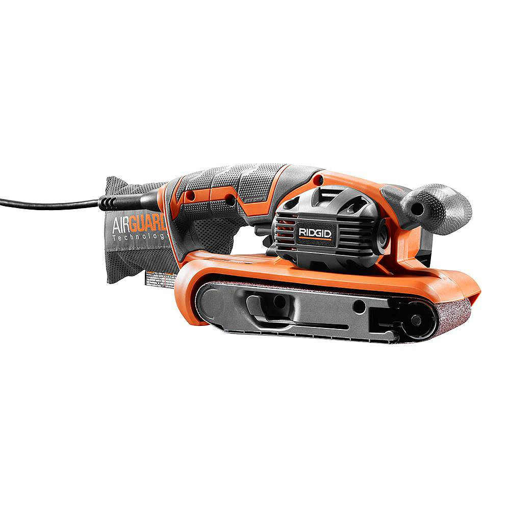 RIDGID 3-inch x 18-inch Heavy Duty Variable Speed Belt Sander with AIRGUARD Technology
