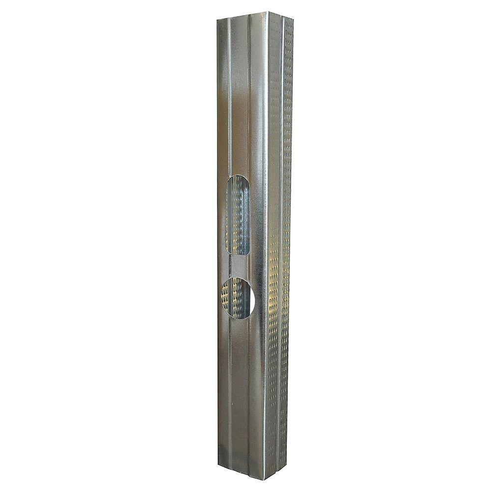 Bailey Metal Products Colombage en acier galvanisé Bailey Platinum Plus  de 1-5/8 po x 8 pieds calibre 25 jauges