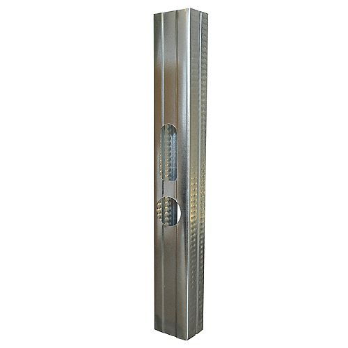 Bailey Metal Products Bailey Platinum Plus 1- 5/8 inch x 8 ft. Galvanized Steel Wall Framing Stud