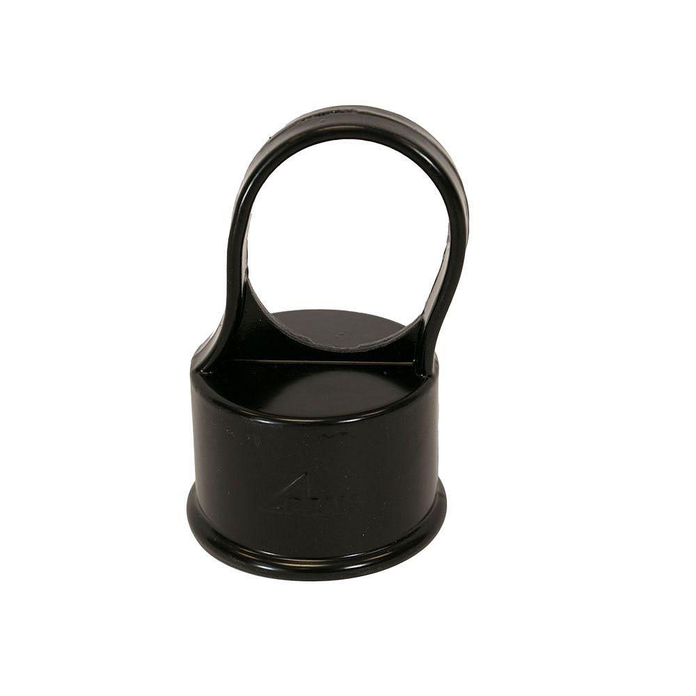 Peak Products Capuchon 1-5/8 pouce de poteau de ligne pour clôture de maille de chaînes - Noir