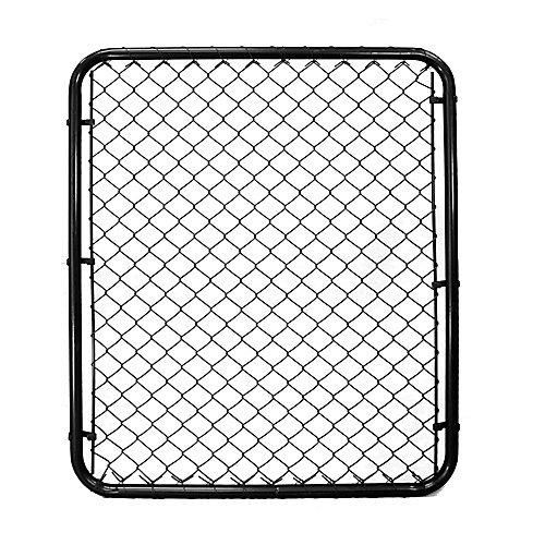Barrière pour clôture de maille de chaînes - 48 pouces hauteur x 42 pouces largeur - Noir