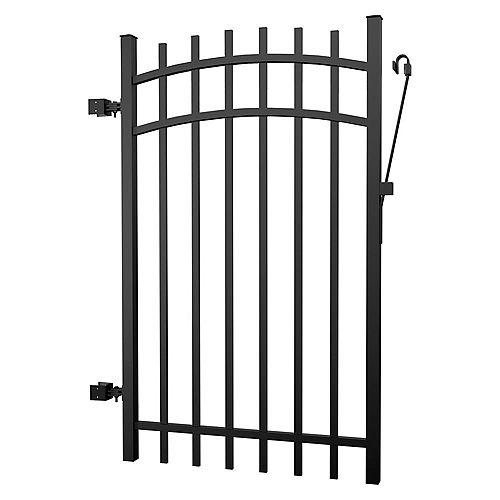 Barrière clôture aluminium noire 5 pieds