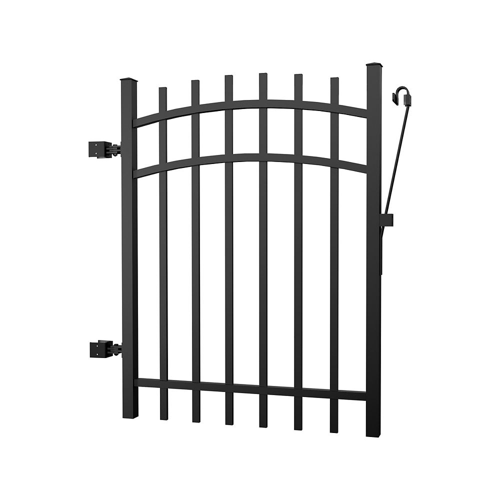 Peak Products Aluminum Fence Gate Black 4 foot