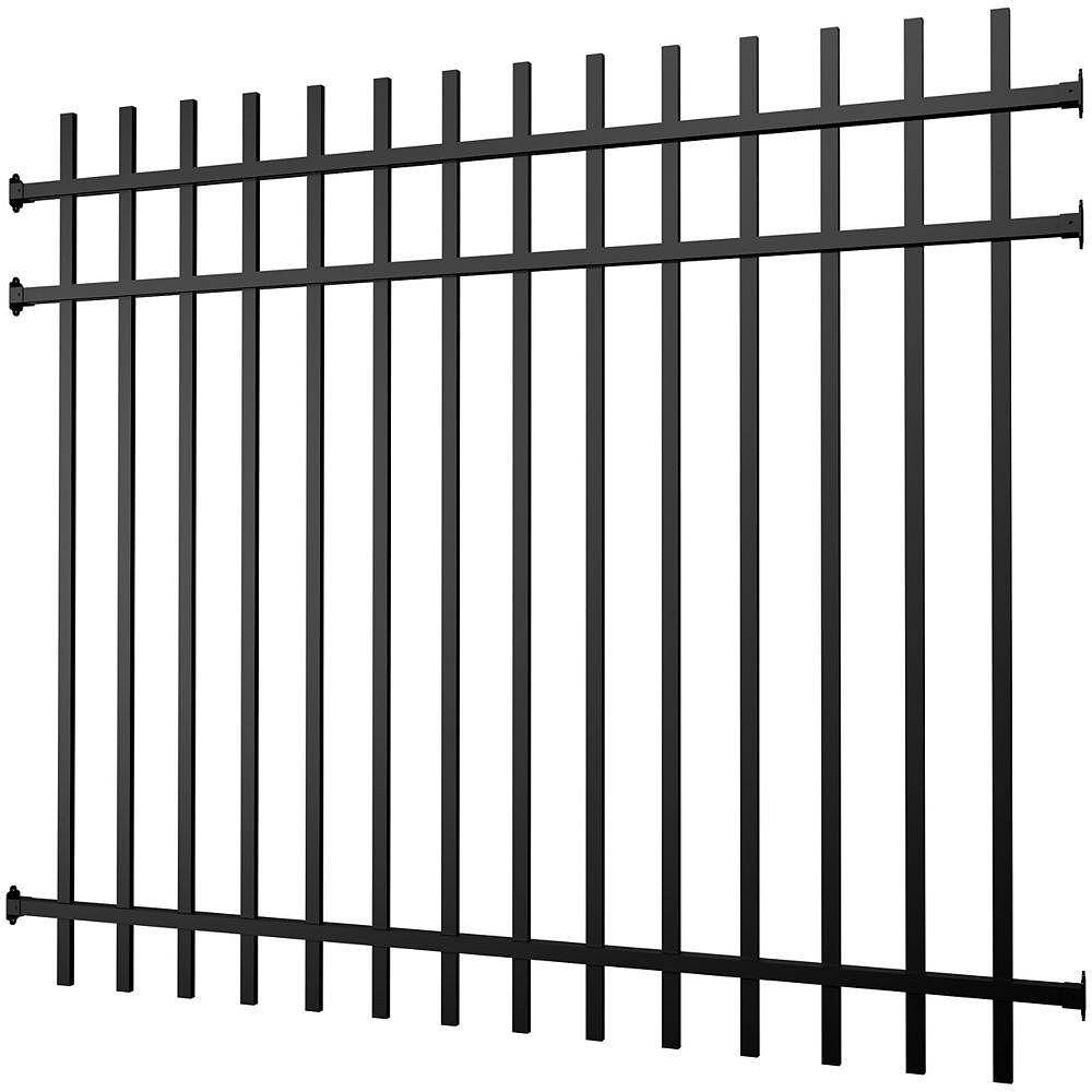 Peak Products Aluminum Fence Panel Black 5 foot