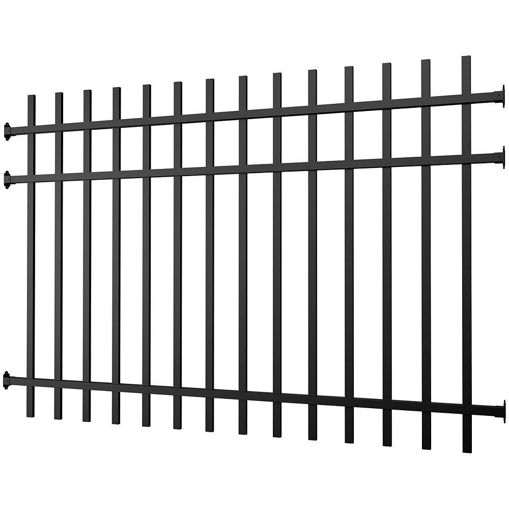 Peak Products Aluminum Fence Panel Black 4 foot