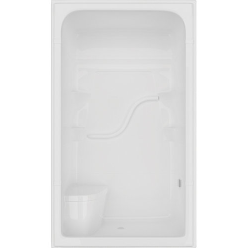 Cabine de douche Madison 34,5 po D x 50 po L x 84,5 po H 4 pi. 3 pièces avec siège en blanc