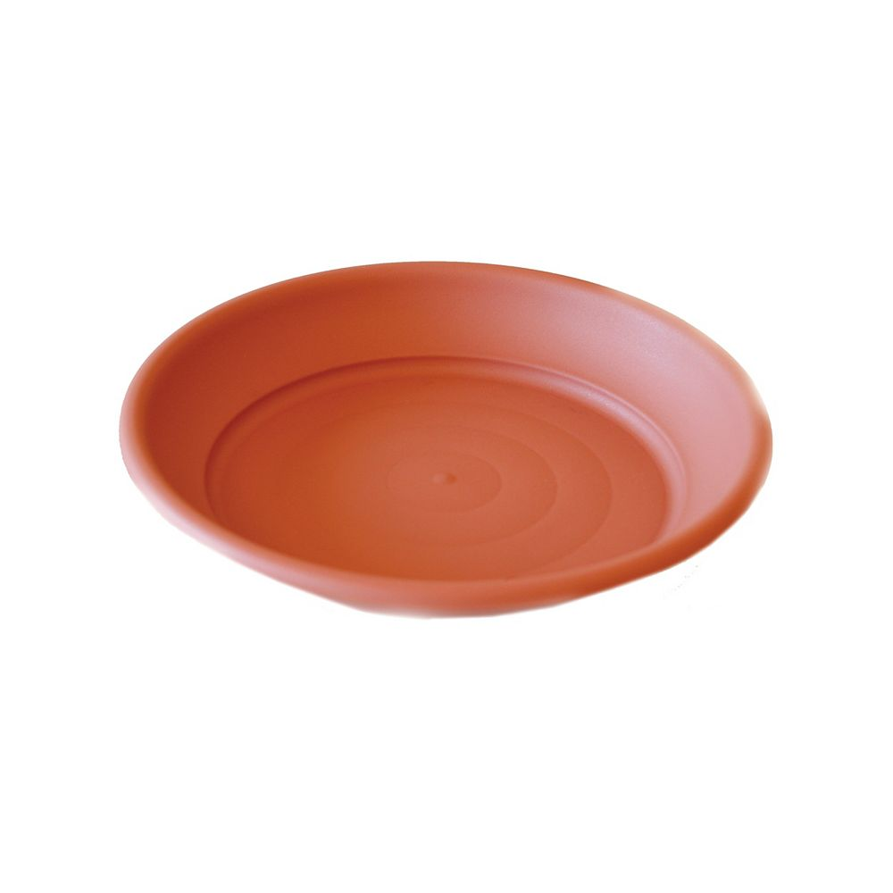 Integrated Plastics 14-inch Bell Pot Saucer in Spice
