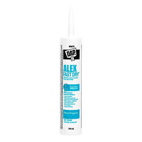 Alex Fast Dry Acrylic Latex Caulk with Silicone - White - 300ml