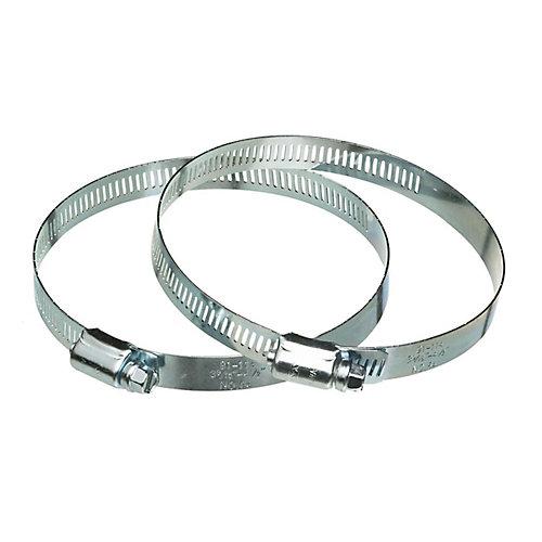 Colliers de serrage à vis sans fin en metal, 5 po