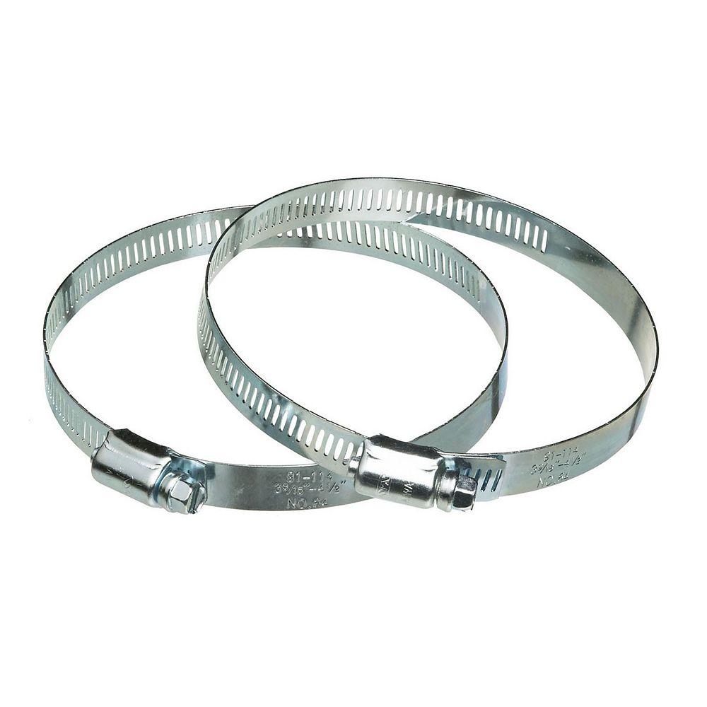 Dundas Jafine Colliers de serrage à vis sans fin en metal, 5 po