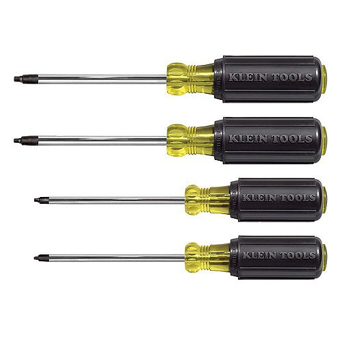 4-Piece Square Recess Screwdriver Set