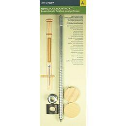 Kit de fixation pour poteaux en acier de 1,51 pouce 1,51 pouce 10,83 pouces