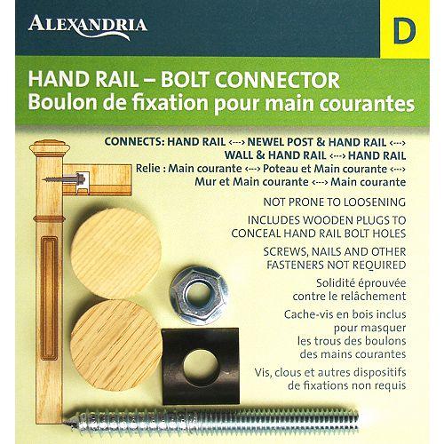 Connecteur gris de 3,37 pouces x 1,04 pouces pour boulon de main courante